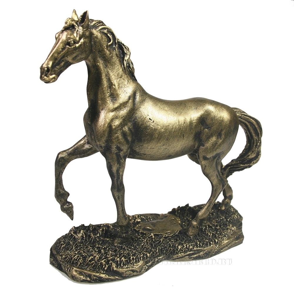 Фигура декоративная Конь (золото) L16W6H16 см оптом