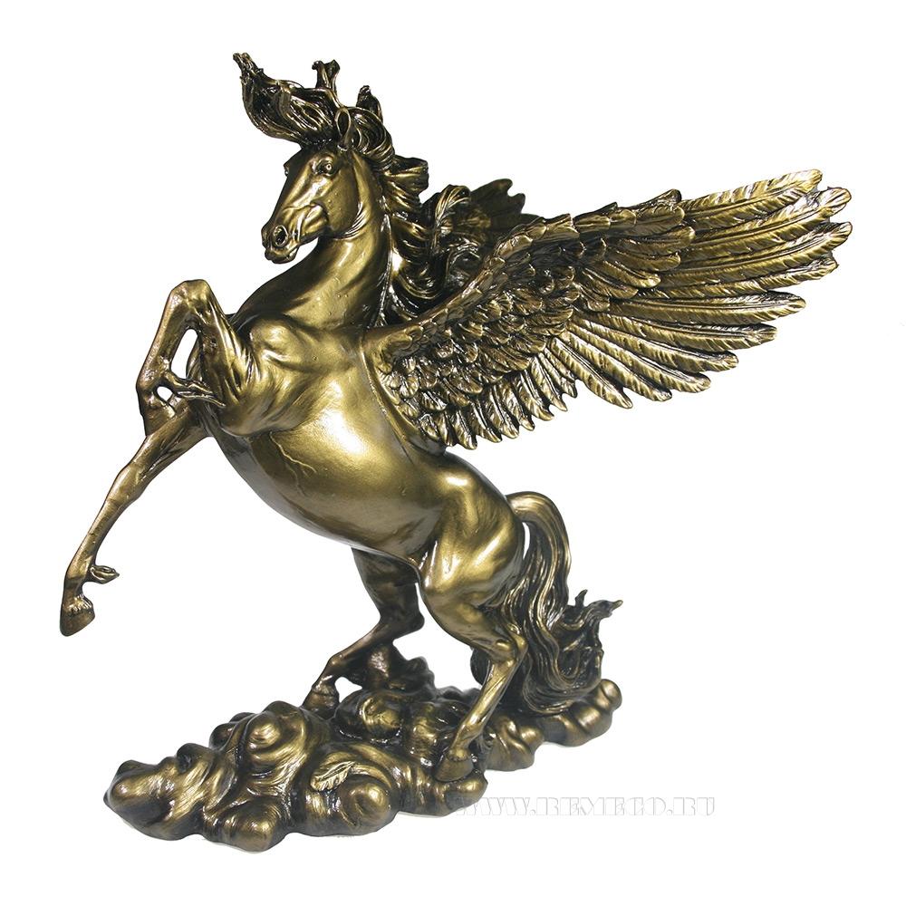 Фигура декоративная Пегас (темное золото) L25W17H28 оптом