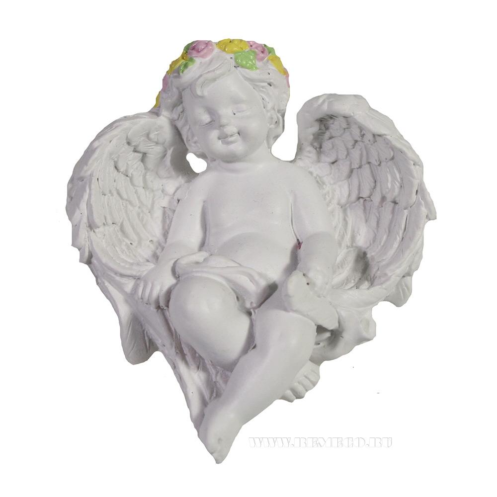 Фигура декоративная Спящий ангел L7W6H3,5 оптом