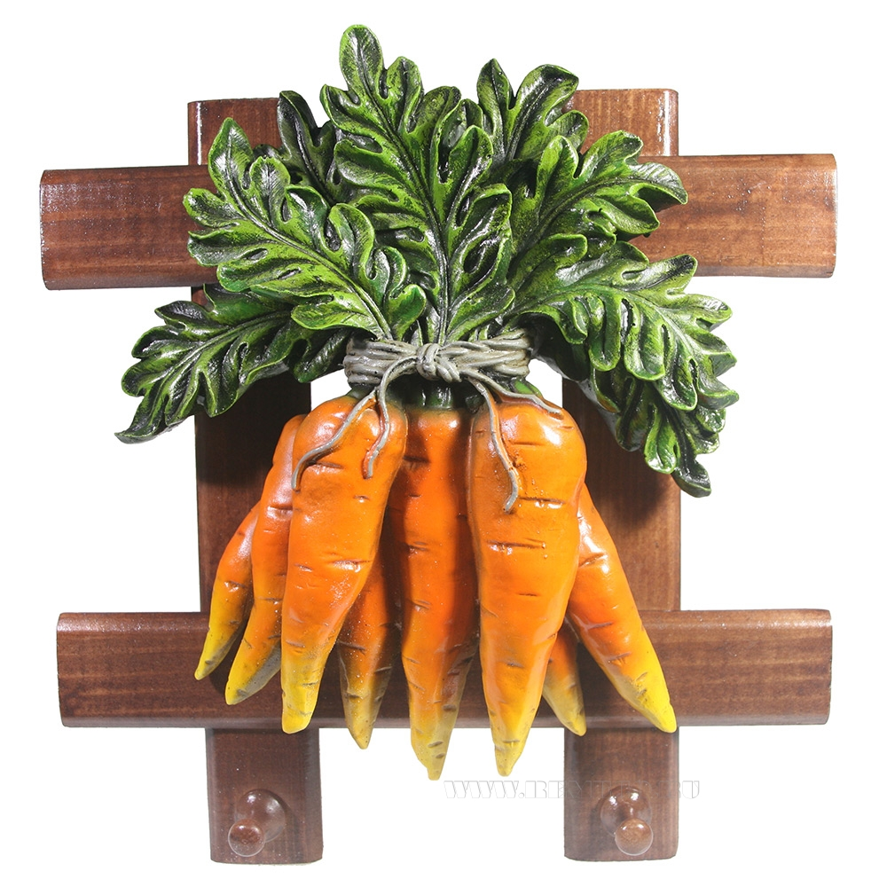 Изделие декоративное Полотенцедержатель Морковь W27H27 оптом