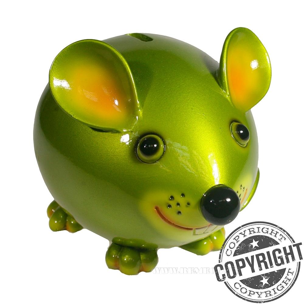 Копилка Мышка Бося (салатовый) L18,5 W12 H12 см оптом