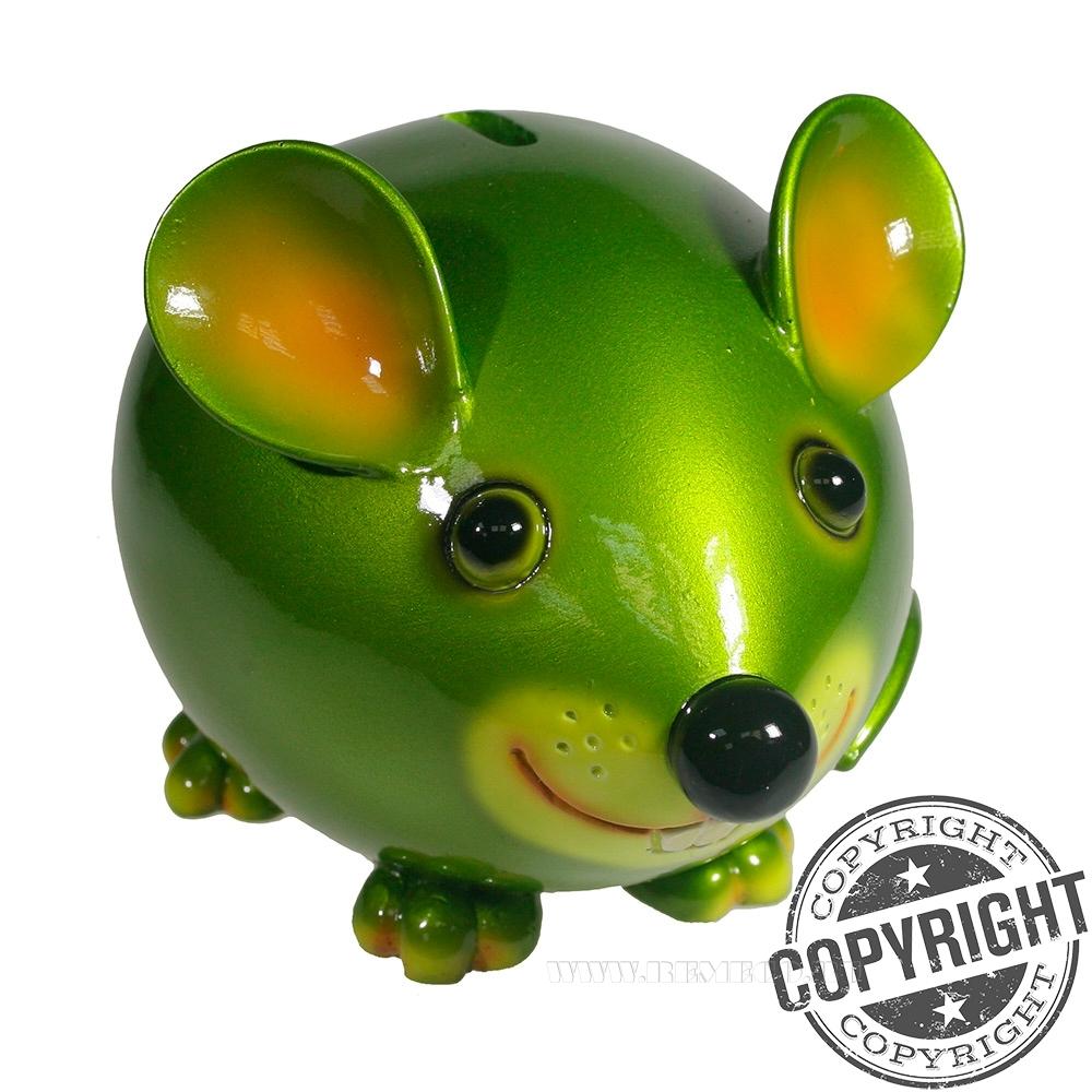 Копилка Мышка Бося (зеленый) L18,5 W12 H12 см оптом