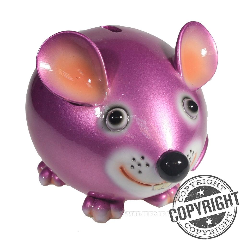 Копилка Мышка Бося (розовый) L18,5 W12 H12 см оптом