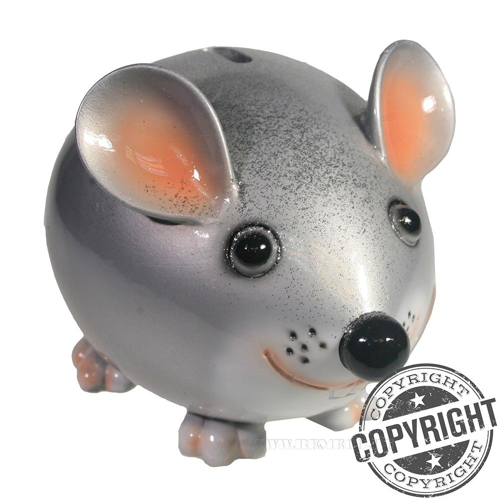 Копилка Мышка Бося (серебро+глиттеры) L18,5 W12 H12 см оптом