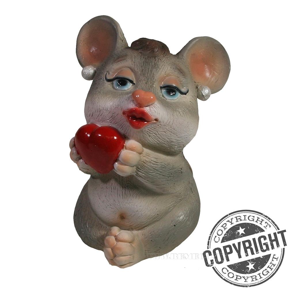 Фигурка декоративная Мышка Лора (акрил) L5,5 W5,5 H11 см оптом