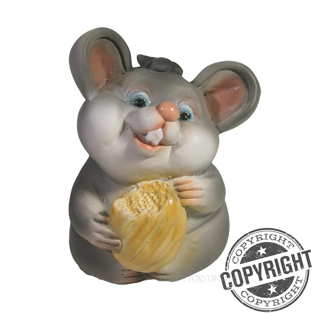 Фигурка декоративная Мышонок Жора (серый) L6,5 W6 H9 см оптом