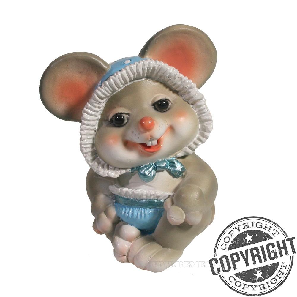 Фигурка декоративная Мышонок-пупсик (серый) L6,5 W8 H9 см оптом