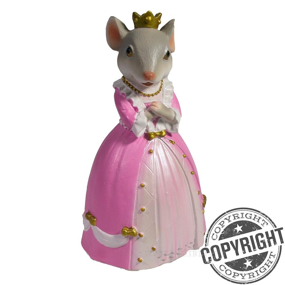 Фигурка декоративная Мышка Диана (серый) L4 W5 H9 см оптом
