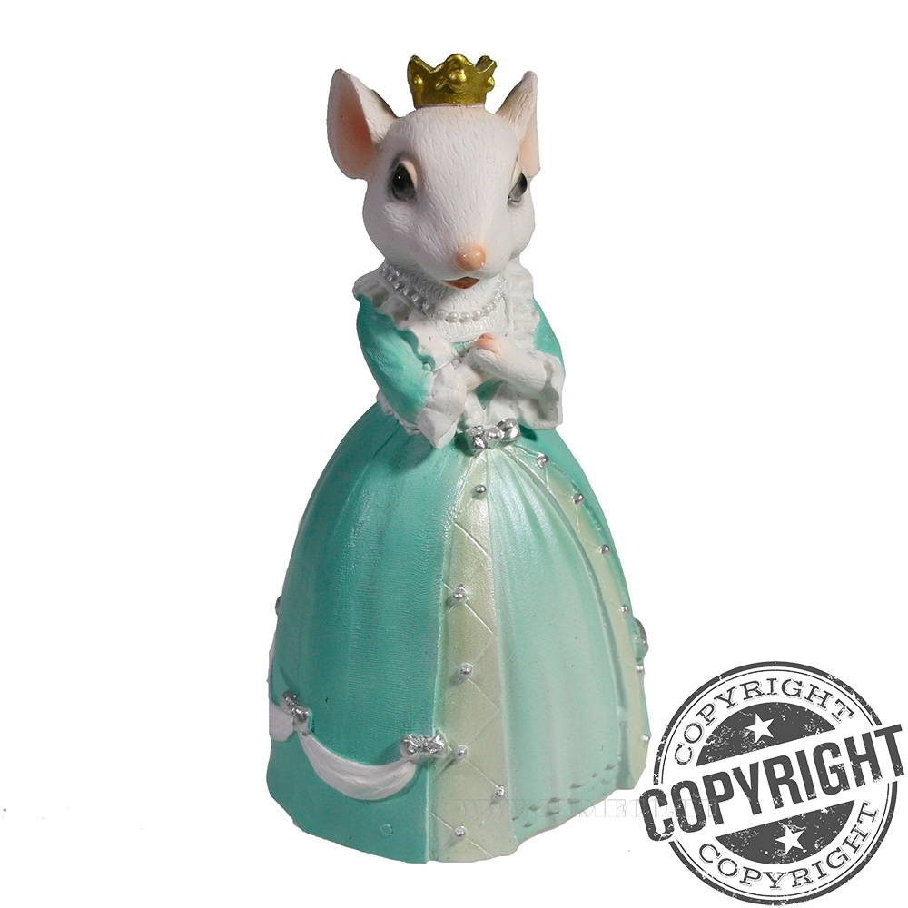 Фигурка декоративная Мышка Диана (белый) L4 W5 H9 см оптом