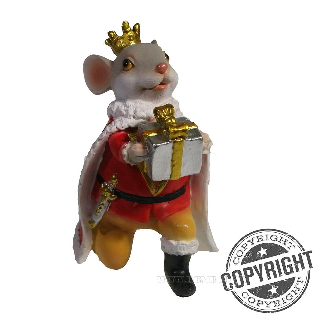 Фигурка декоративная Мышонок Чарльз (серый) L8 W9 H12 см оптом