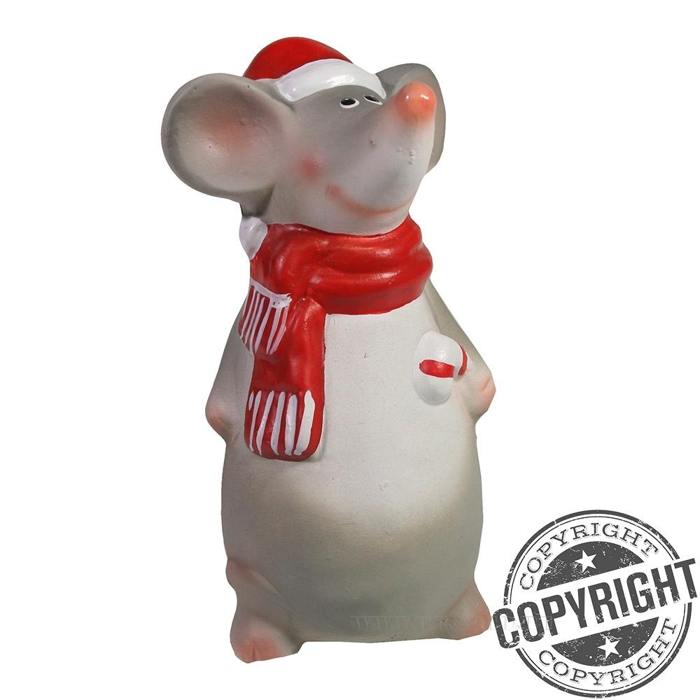 Фигурка декоративная Мышонок Квин с карамелькой L6 W6 H13,5 см оптом
