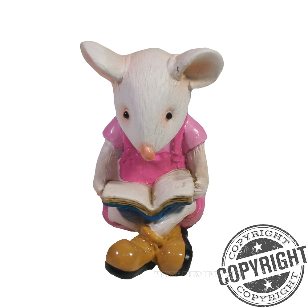 Фигурка декоративная Мышонок Бильбо (белый) L5,5 W2,5 H6 см оптом