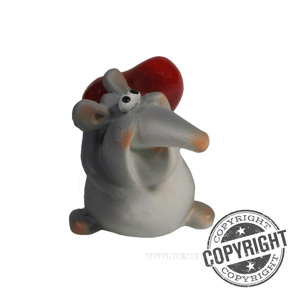 Фигура декоративная Влюбленная крыса L3,5 W3H3,5 см оптом