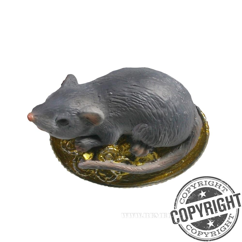 Магнит Денежная Крыса (серый) L5,5 W1,5 H3,5 см оптом