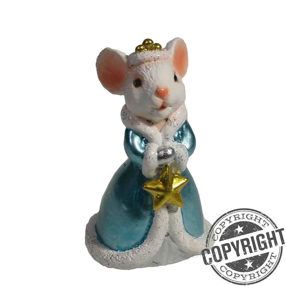 Фигурка декоративная Мышка Николь (белая) L4 W5 H9 см оптом