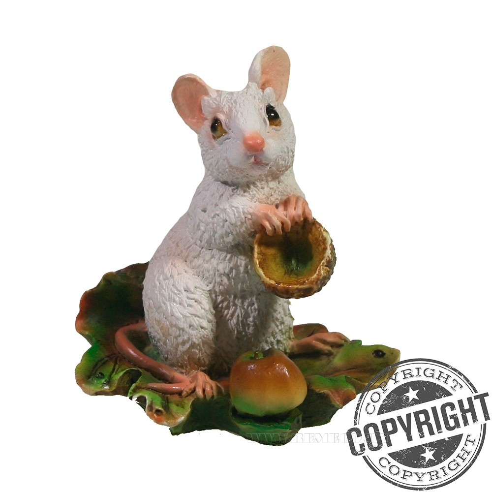 Фигурка декоративная Мышка Джуди (белый) L6 W4 H6,5 см оптом