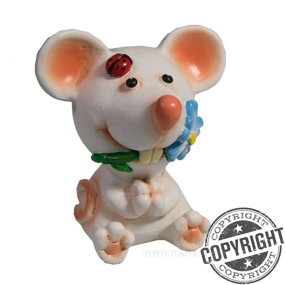 Фигурка декоративная Мышонок Олаф (белый) L6 W7 H9 см оптом