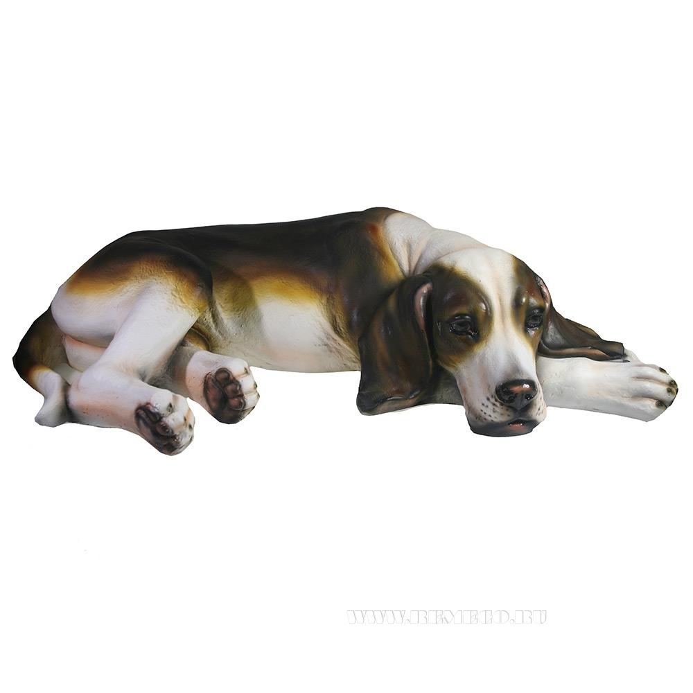 Фигура декоративная Пес Ральф (охотничья) L60W34H14 оптом