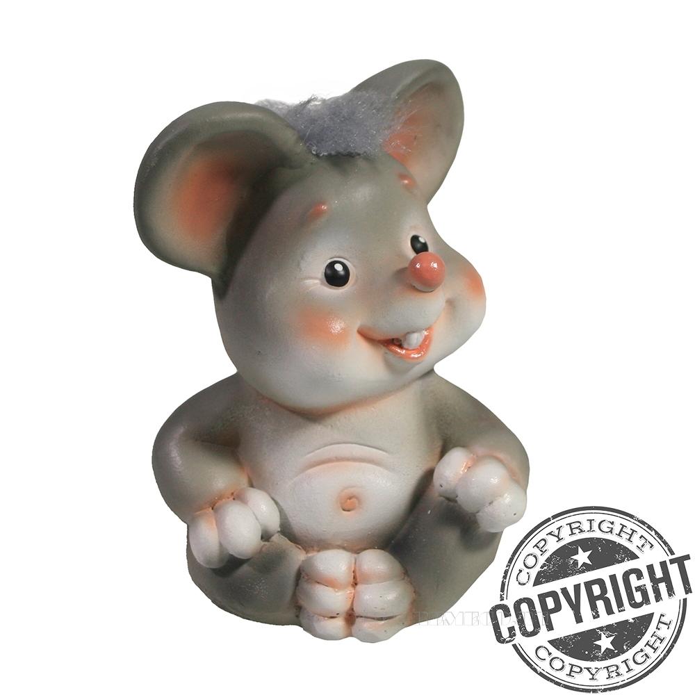 Фигурка декоративная Мышонок Каспер (серый) L6 W7 H9 см оптом