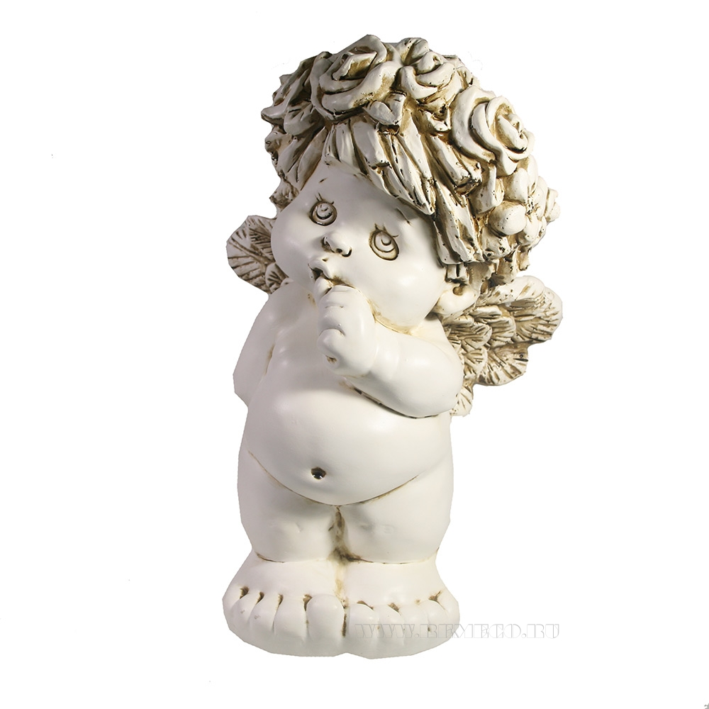 Фигура декоративная Ангел стоит (цвет антик)L21.5W18.5H33см оптом