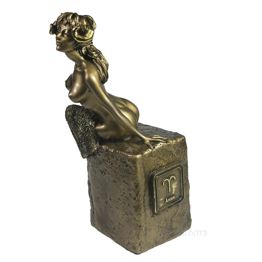Фигура декоративная Знак зодиака Овен (золото) L12W11Н21.5 см оптом