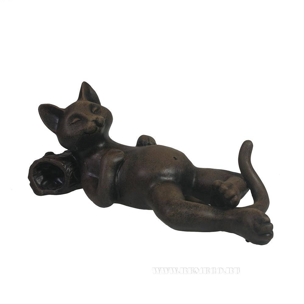 фигура декоративная Кот отдыхает (черный) L18W9H9 см оптом