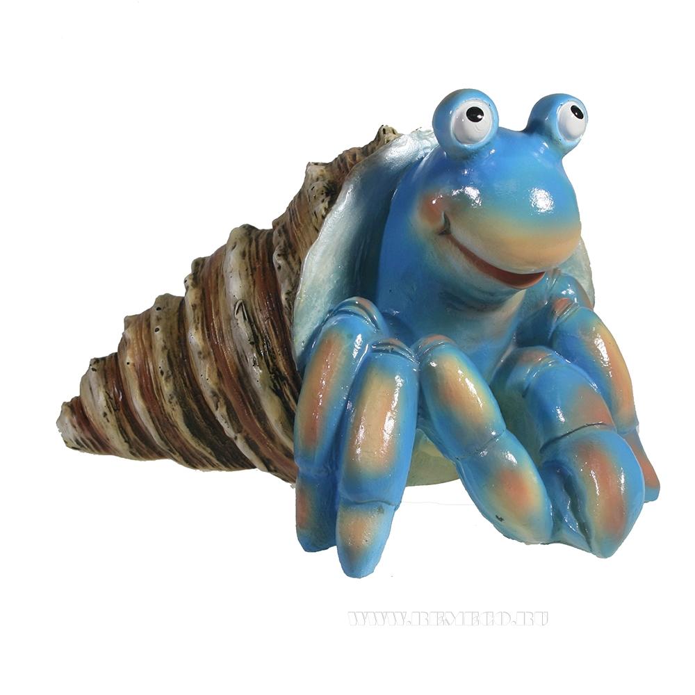 Фигура декоративная Рак отшельник (синий) L20W25H15 оптом