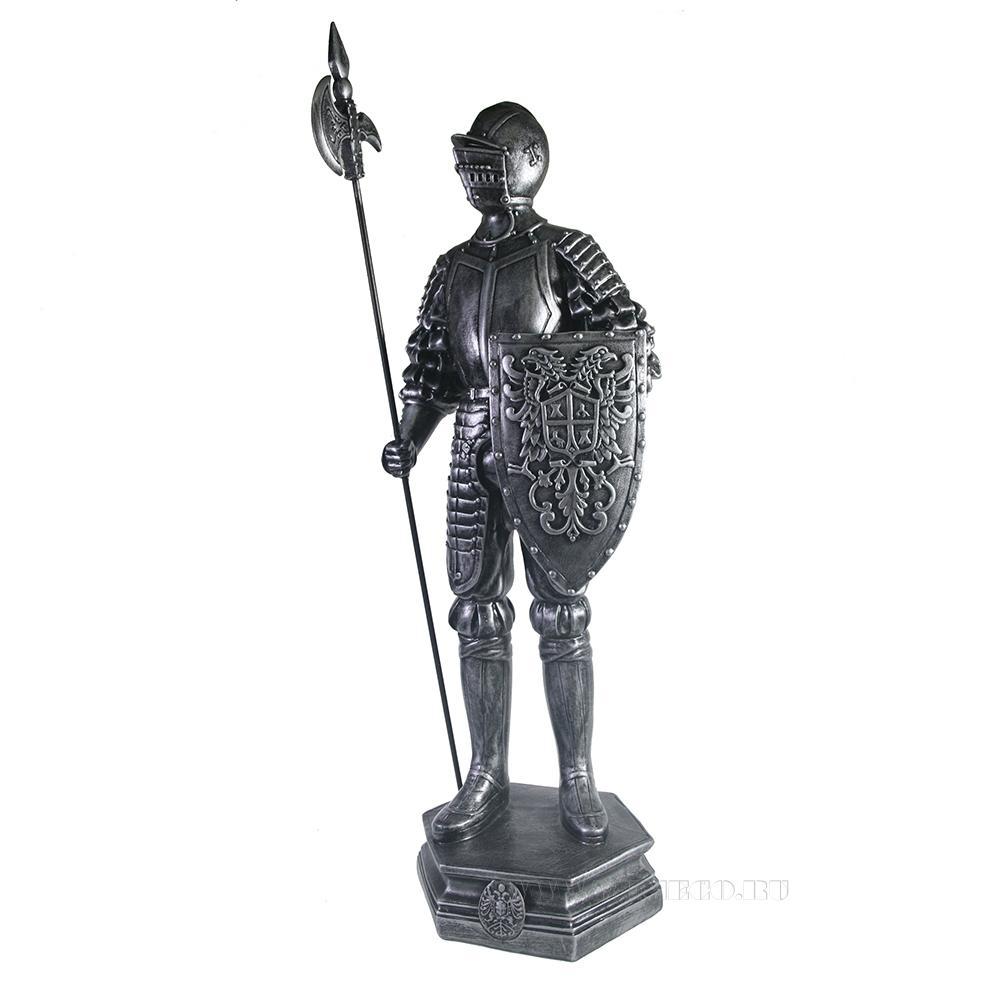 Изделие декоративное Рыцарь (серебро) L15W17H53 см оптом