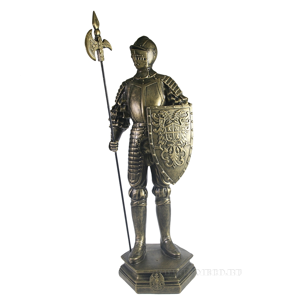 Изделие декоративное Рыцарь (бронза) L15W17H53 см оптом