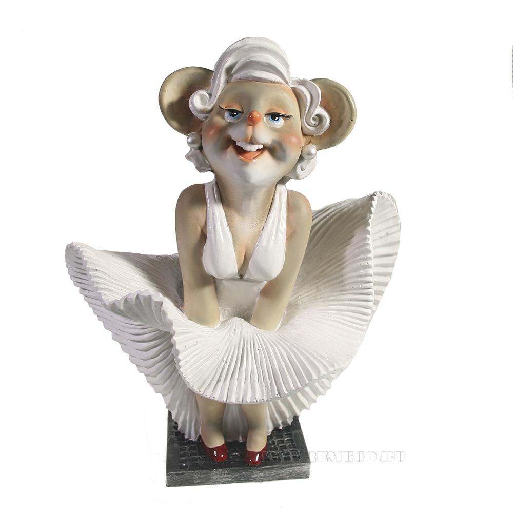 Фигурка декоративная Мышка Мэри (серый) L17 W13 H24 см оптом