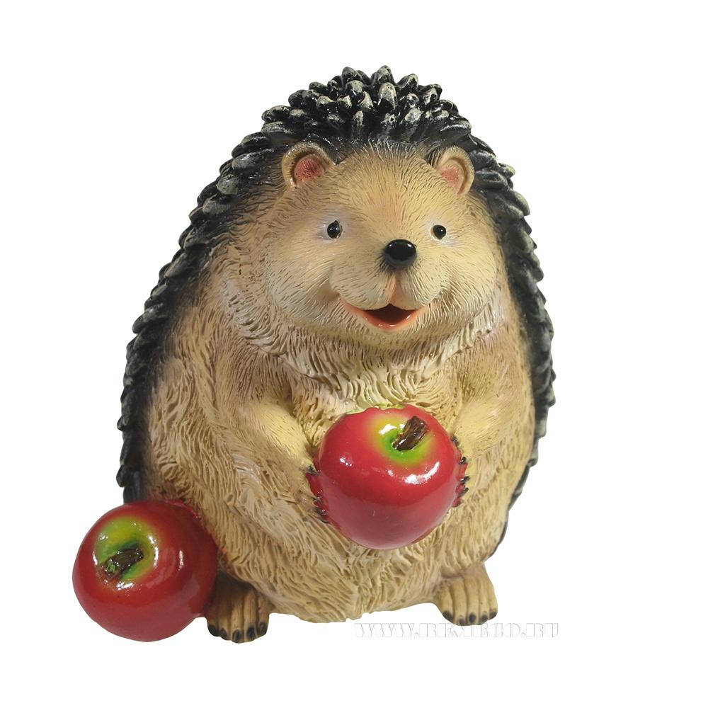 Фигура декоративная Ежик с яблочками L14W14,5H15 оптом