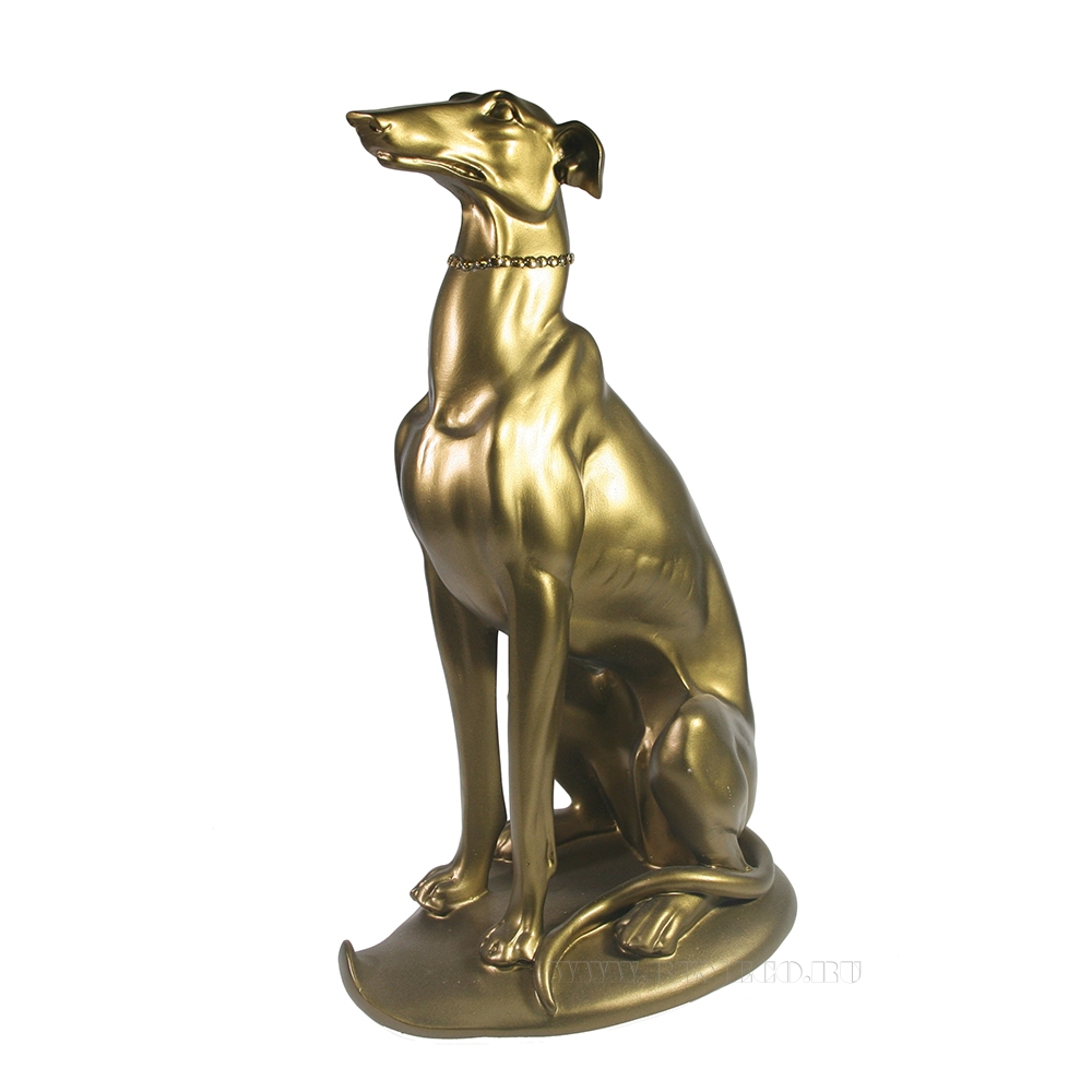 Фигура декоративная Ливретка сидит (золото) L22W14H35 оптом