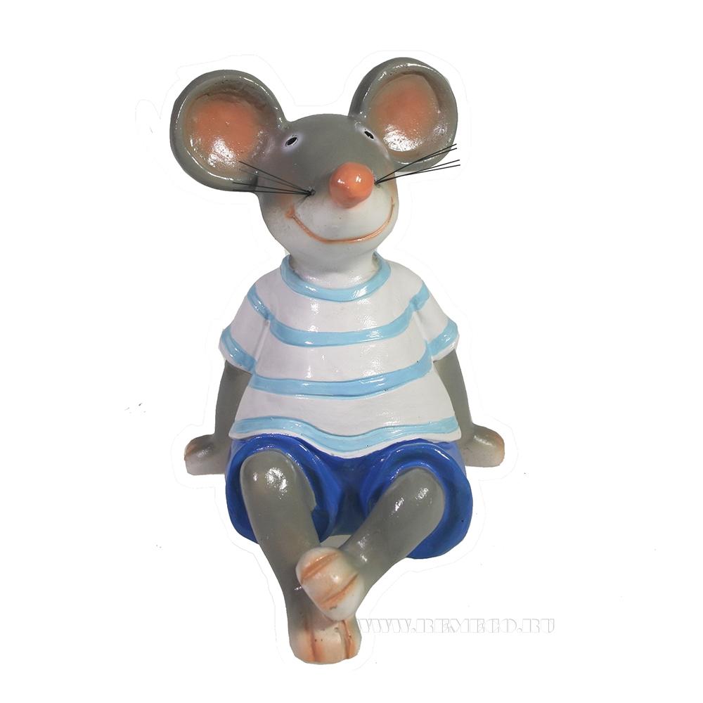Фигура декоративная Мышонок Фома L11W10,5H13 оптом