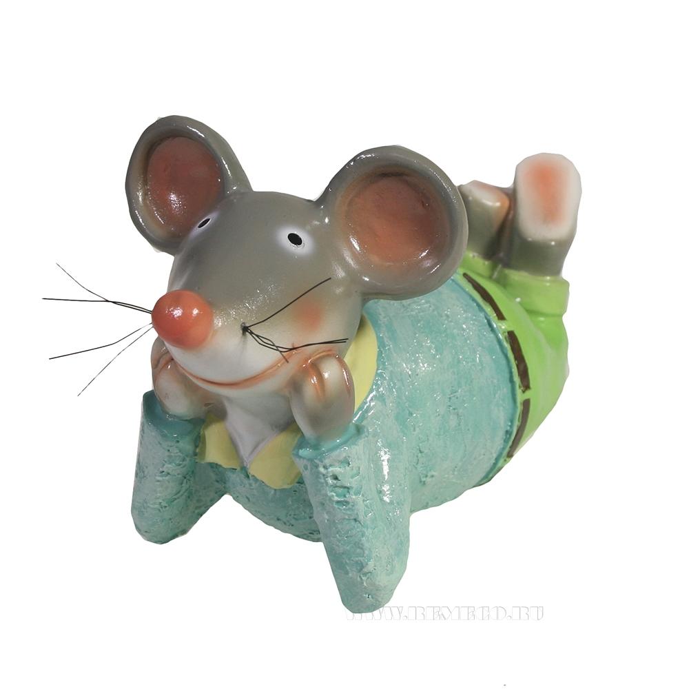 Фигура декоративная Мышонок Сёма L18W9H10 оптом
