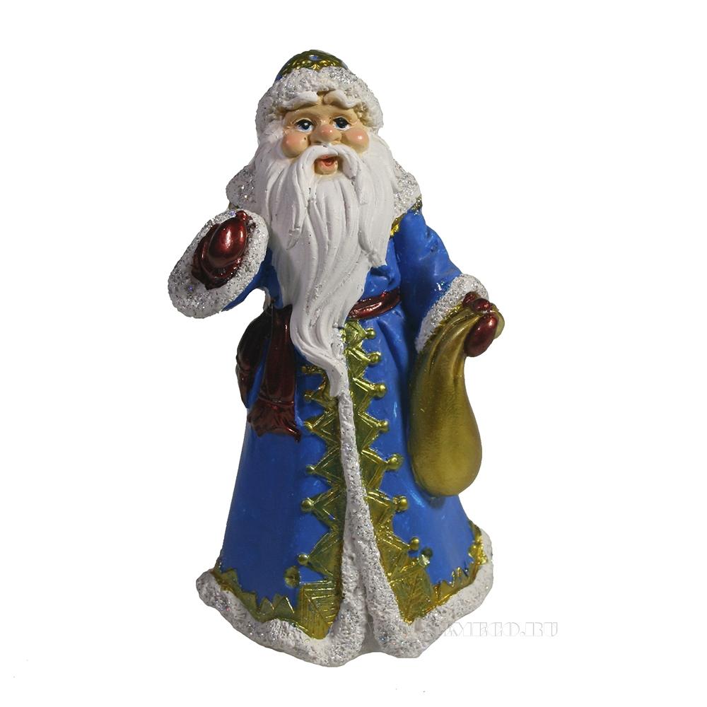 Фигура декоративная Дед Мороз (в синей шубе) L7.5W6H12 оптом