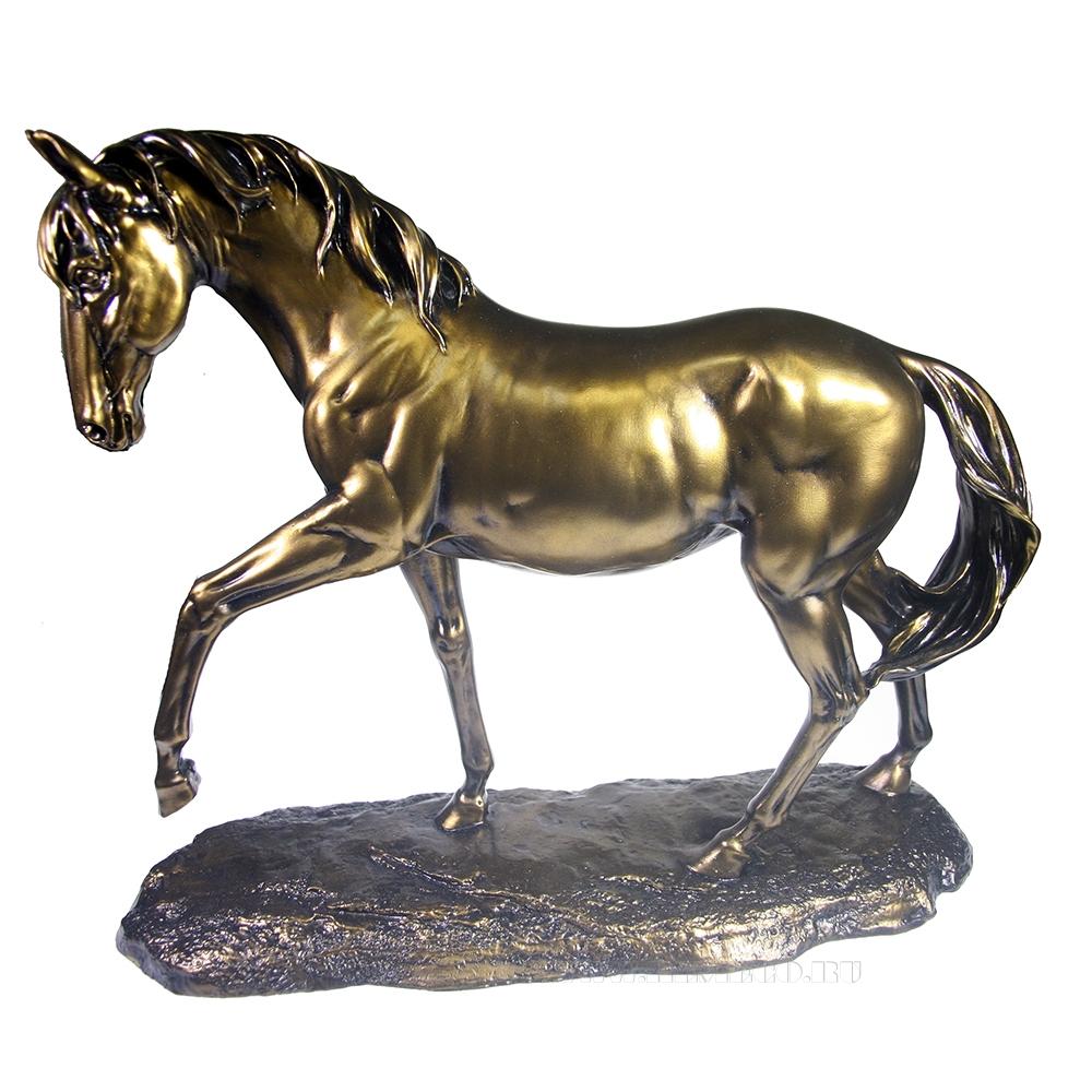 Фигура декоративная Шагающий конь (бронза) L15,5W42H36 оптом