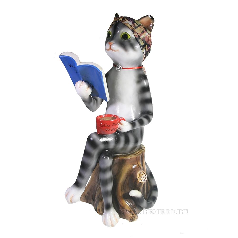 Фигура декоративная Кошка Анфиса L21W17H41 оптом