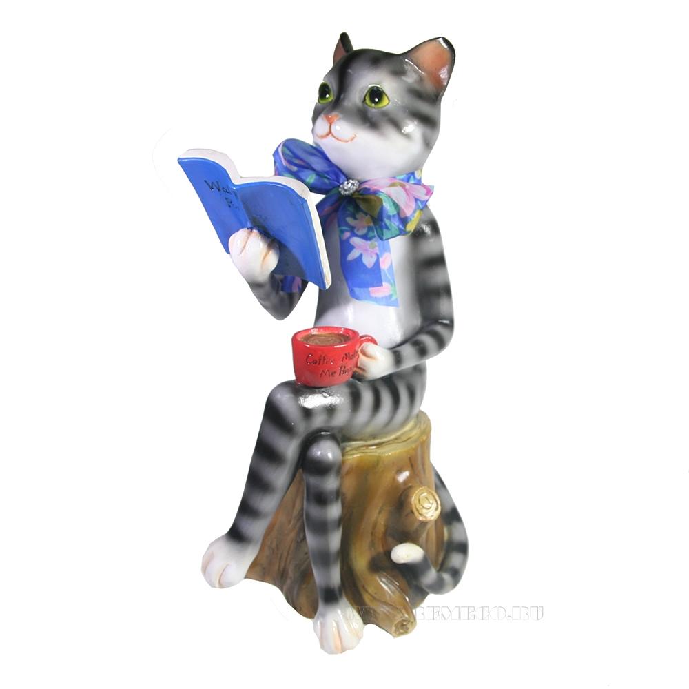 Фигура декоративная Кошка Маркиза L21W17H41 оптом