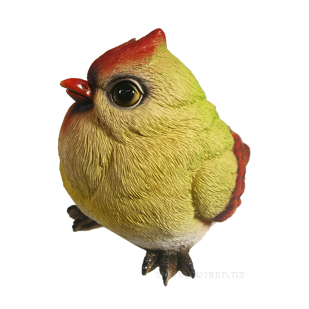 Изделие декоративное Птичка Желтый кардинал L13W11H12 оптом