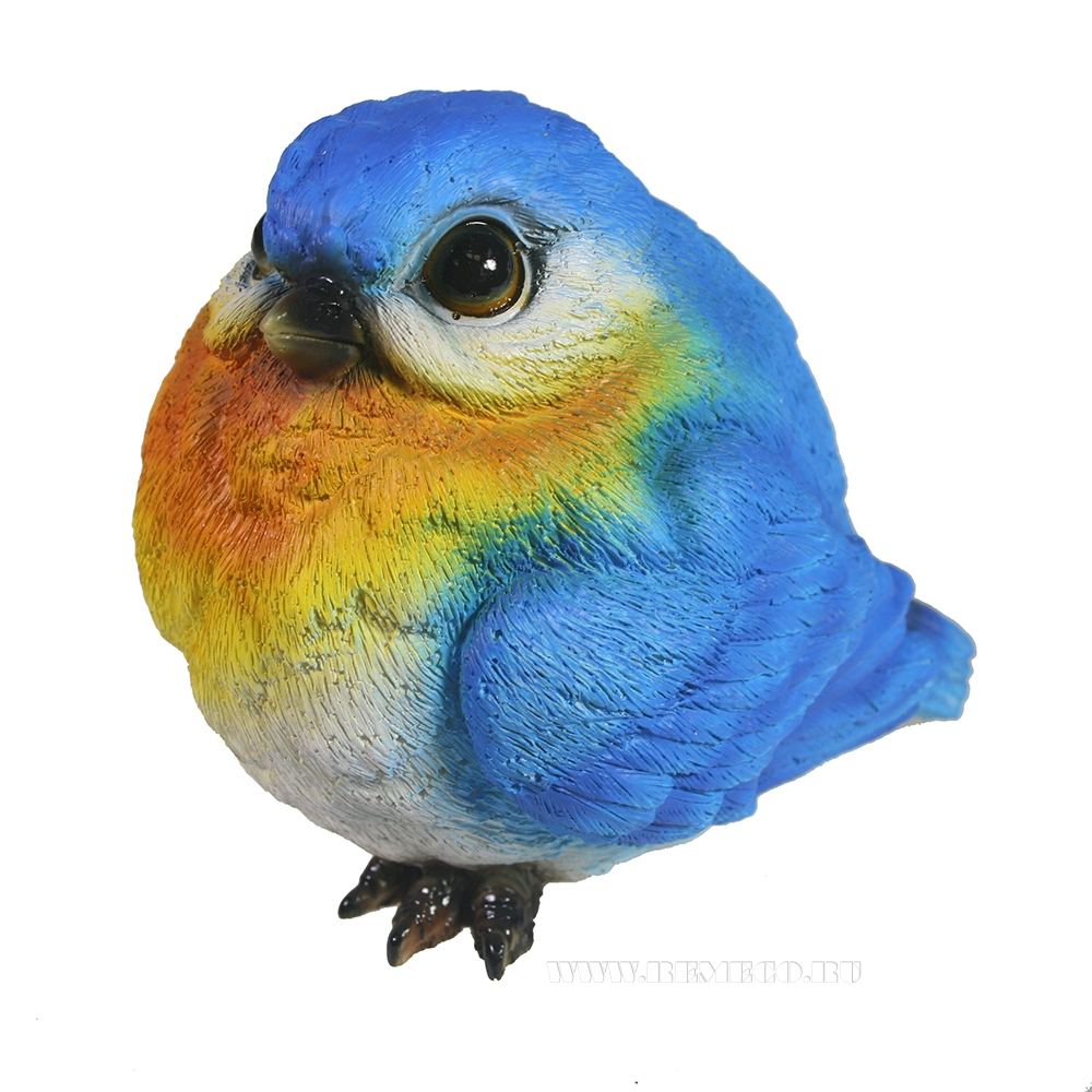 Фигура декоративная Синяя птица L12W10,5H11 оптом