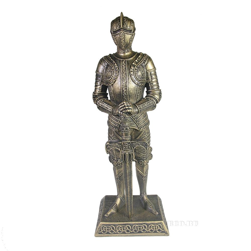 Изделие декоративное Рыцарь (бронза) L11,5W13,5H37 см оптом
