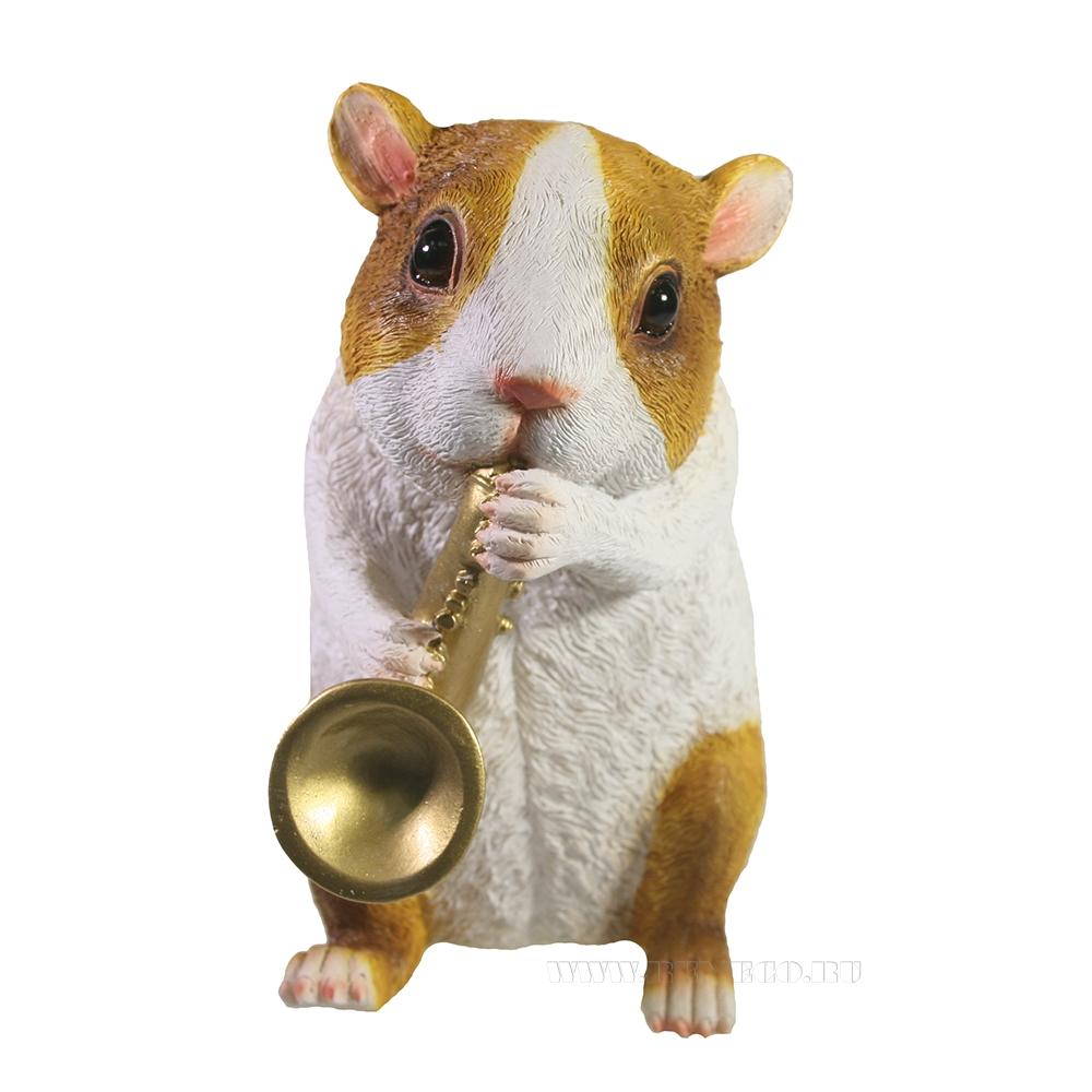 Изделие декоративное Морская свинка с саксофоном L10W13,5H17 оптом