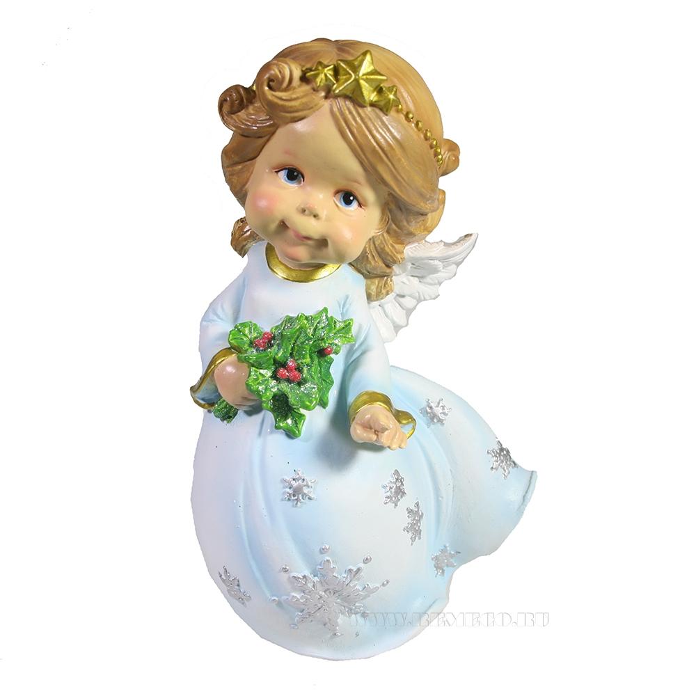 Фигура декоративная Рождественский ангел L9,5W8H19 оптом