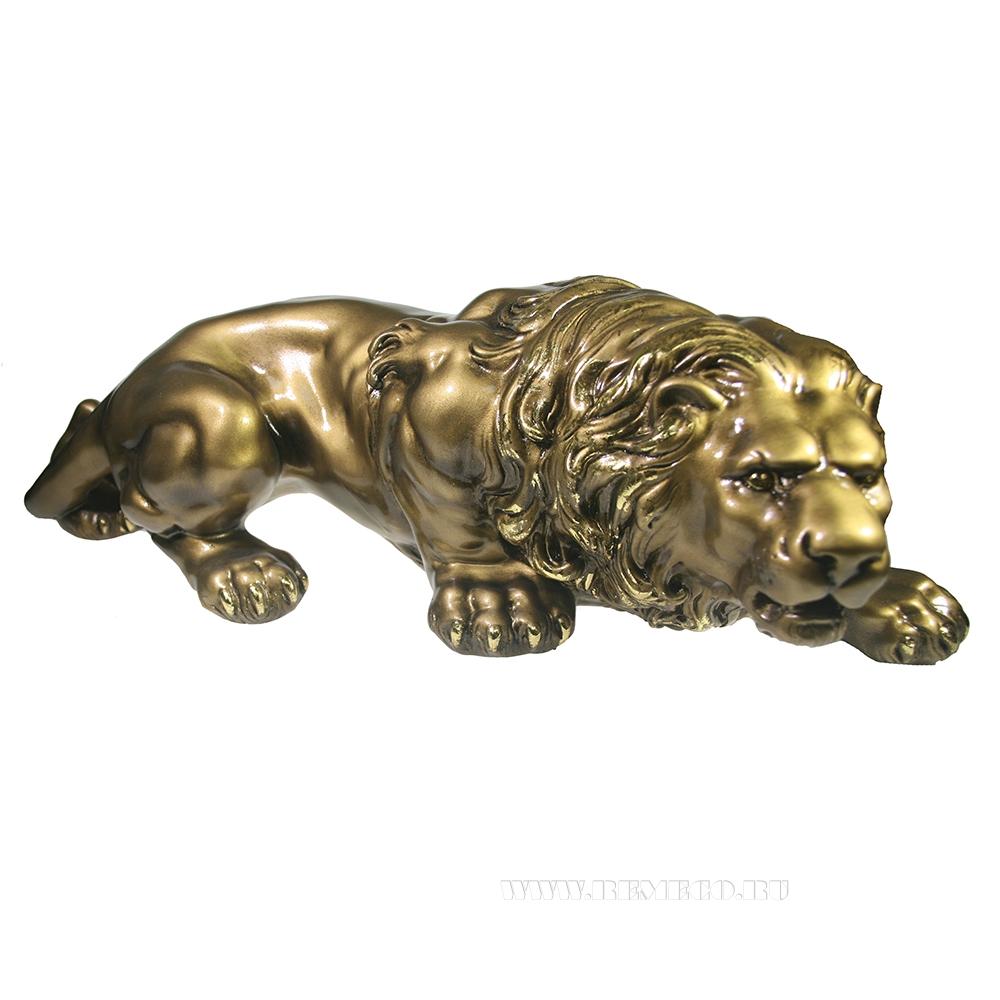 Изделие декоративное Лев (золото) оптом