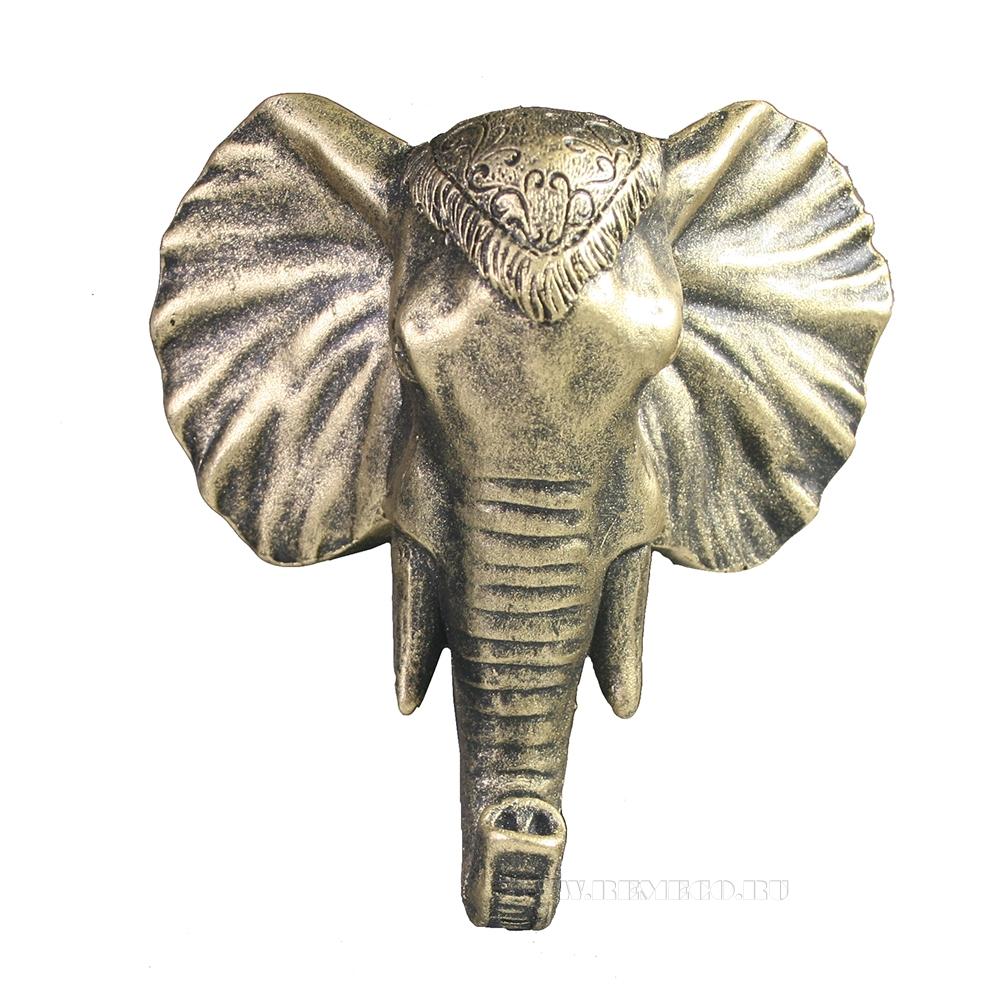 Изделие декоративное Крючок Слон (бронза) L4W12H13 оптом