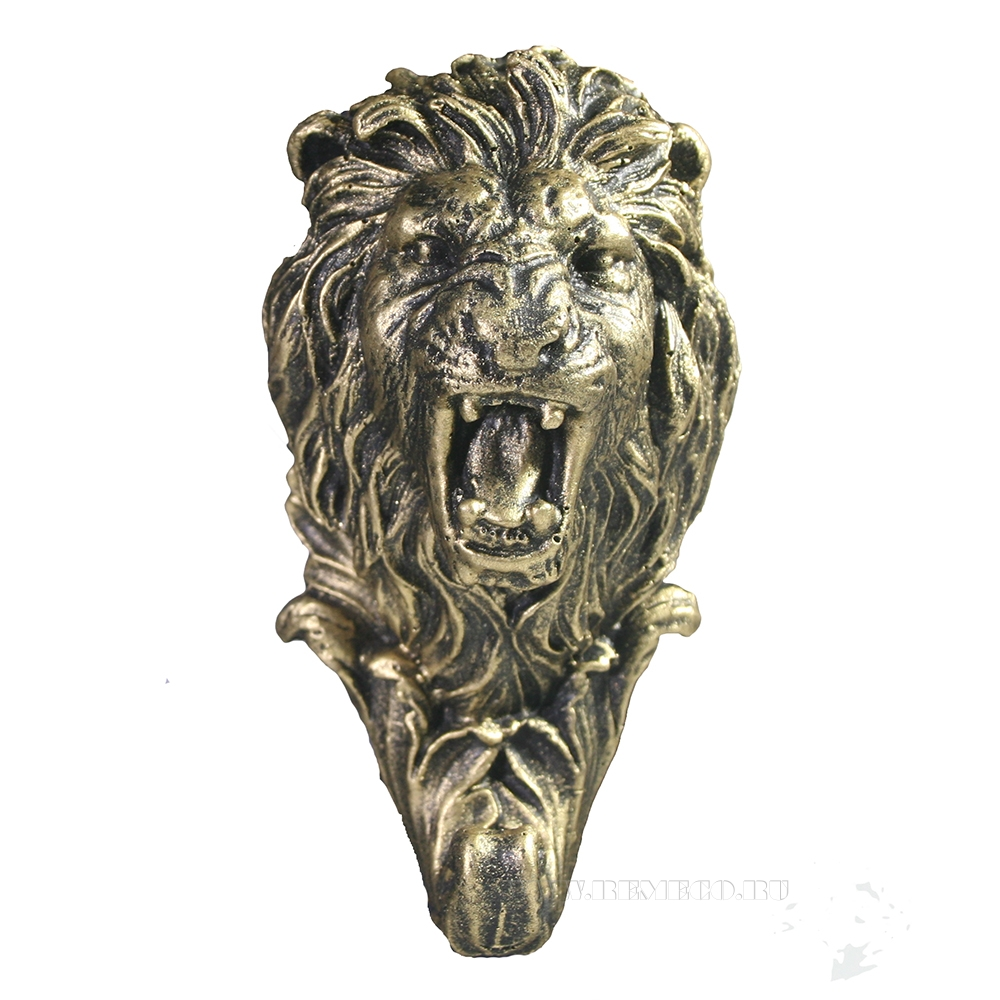 Изделие декоративное Крючок Лев (бронза) L6W6H12 оптом