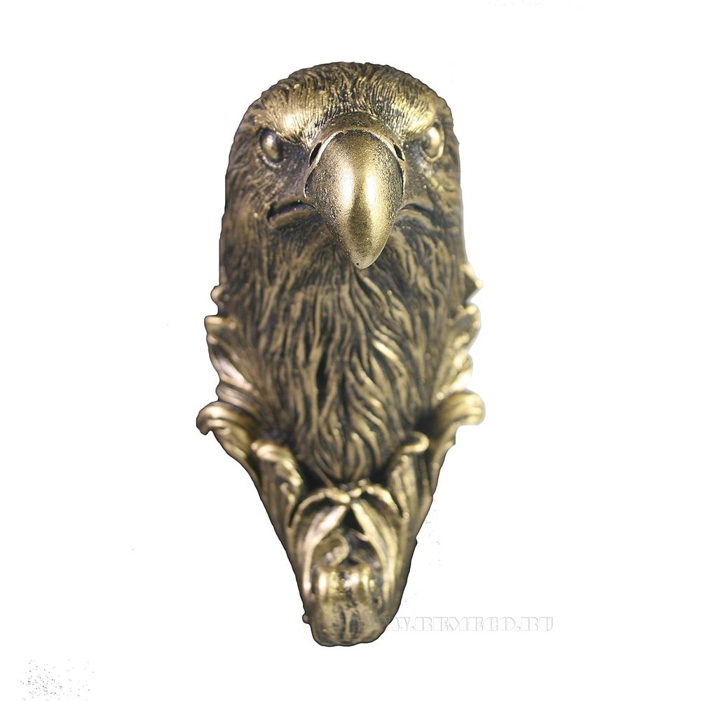 Изделие декоративное Крючок Орел (бронза) L7W6H11 оптом