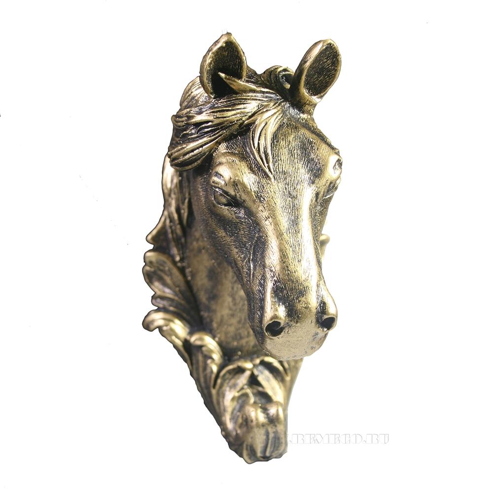 Изделие декоративное Крючок Лошадь (бронза) L8W6H11 оптом