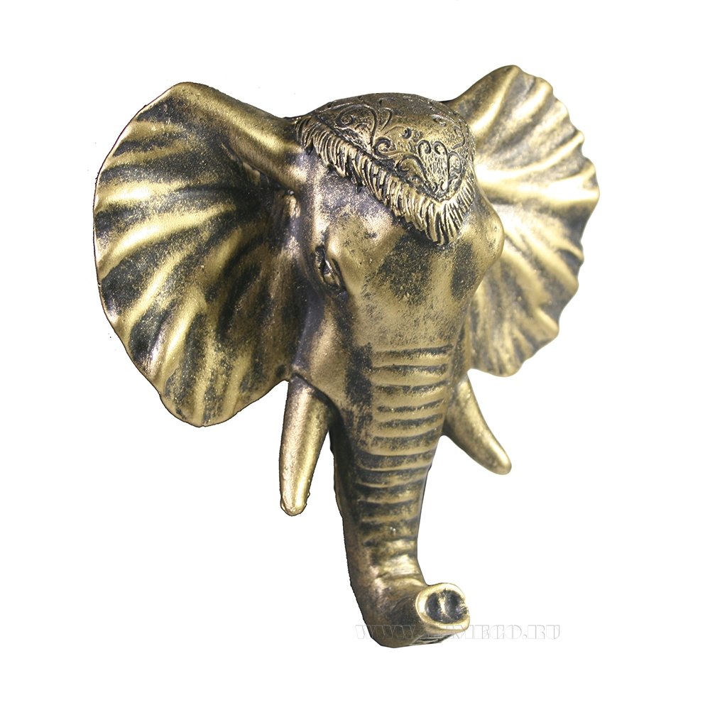 Изделие декоративное Крючок Слон (слоновая кость +золото) L4W12H13 оптом