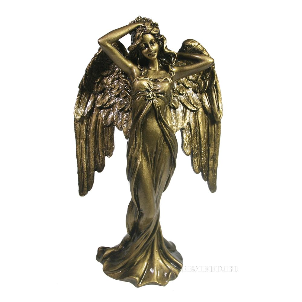 Фигура декоративная Ангел (золото) L7W13H22,5 оптом
